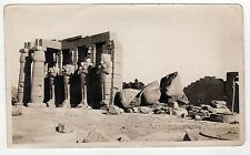 THEBES LUXOR EGYPT Real Photograph PHOTO Ruins ANCIENT Temple Ramesses RAMESES