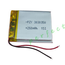3.7V 260 mAh Polymer Li Lithium cell For GPS bluetooth driving recorder 303035