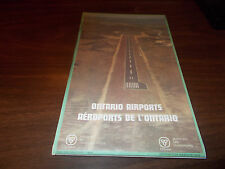 1990 Ontario Airports Province-issued Vintage Map