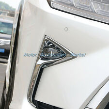 NEW Chrome Front Fog Light Cover Trim For Lexus RX350 RX450H 2016 2017