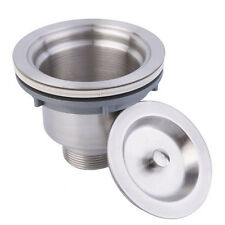 Stainless Steel Deep Waste Basket Kitchen Sink Drain Strainer
