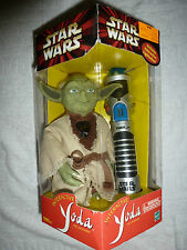 STAR WARS INTERACTIVE YODA AND LIGHTSABER ACTION FIGURE