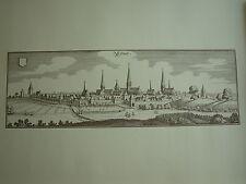 Stich/Druck Format 42 x 32  cm  (n.V. aus 17 Jh.)  s-w stadt ESSEN  ungefaltet