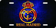 Real Madrid Blue Airbrushed car tag license plate 111