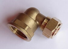 10mm Compression x 1/2 Inch BSP Female Iron Elbow | Brass Plumbing Fittting