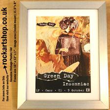 GREEN DAY Insomniac 1995 ORIGINAL Poster/Ad FRAMED Billie Joe Armstrong *WORLD