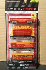 Power City Trains GOLD RUSH STEAM Set  4 Cars  Series 7 New and SEALED