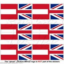 AUSTRIA-UK Flag Austrian-Union Jack 40mm Mobile Cell Phone Mini Sticker-Decal x6