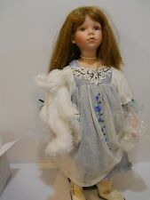 Lisha  Doll by Duck House Heirloom Edition  Porcelain Red Brown hair  blue dress