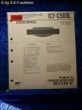 Sony Service Manual ICF C503L PLL Synthesized Kitchen Radio (#3205)