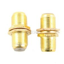 2 Pack F Type Coupler Adapter Connector Female RG6U F59U Coax Coaxial Cable GOLD