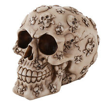CROSSBONES SKULL MONEY BANK SKELETON FIGURINE STATUE HALLOWEEN