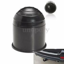 50mm Black Plastic Tow Bar Ball Cover Cap Car Towing Hitch Towball Trailer Van