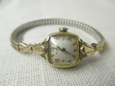 Vintage Bulova Ladies Wrist Watch 10K RGP 17 Jewels Runs