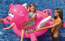 "Swimline LOL 54"" Giant Flying Pig Inflatable Ride On Pool Fun Float swimming"