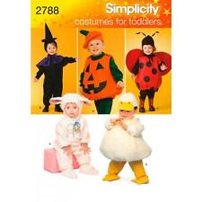 SIMPLICITY SEWING PATTERN Lamb, Chick, Witch, Pumpkin and Ladybug Costumes  2788
