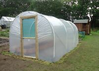 8ft Wide Polytunnel Greenhouse - 2.44m Wide Poly Tunnel from Premier Polytunnels