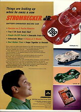 1967 PAPER AD Strombecker Toy Play Race Car Ferrari P2 Lotus 30 Slot Cars