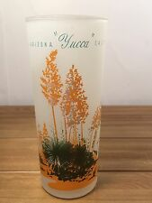 VINTAGE BLAKELY OIL TALL FROSTED GLASS ARIZONA CACTUS YUCCA