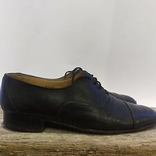 VIGEVANO Black Italian Leather Womens Oxford SHOES SIZE 7 1/2 D Vintage