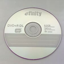 10-PK efinity Logo Top DVD+R DL Dual Double Layer Disc Media 8.5GB Paper Sleeves