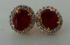 American Diamond Stunning Designer Ruby Earring Set Gold Plated 1121 2E 12