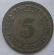 Straits Settlements 5 cents 1918 coin