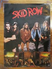 """1991 SKID ROW """"Slave to the Grind"""" Promotional Atlantic Poster Sebastian Bach"""