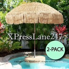 8 Foot Deluxe Tropical Island Tiki Bar Thatched Patio Umbrella (2 PACK)