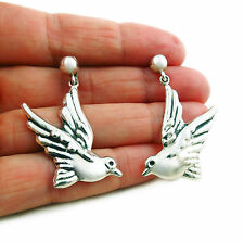 Lovebirds 925 Sterling Taxco Silver Maria Belen Dove Earrings