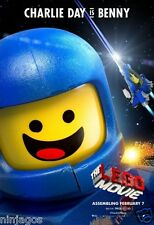 The LEGO Movie POSTER Giveaway Exclusive CHARLIE DAY is BENNY Astronaut Edition
