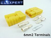 ANDERSON PLUG 50 AMP_BATTERY CONNECTOR_JUMP START_SLAVE ASSIST_X2_YELLOW_6MM2