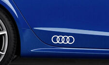 2x AUDI Rings Premium Side Decals Stickers
