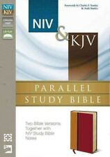NIV & KJV Parallel Study Bible by Zondervan Publishing Leather Book (English)