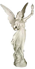 "Angel of Light Christian sculpture statue 27"" (Left) for home or garden"