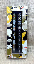 Vera Bradley Dogwood Perfect Match Pen & Pencil Set Ball Point Black Ink New