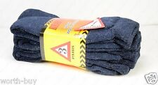 New 3 Pairs Mens Heavy Duty Warm Work Wool Socks Crew Cotton Size 9-13 Navy Blue