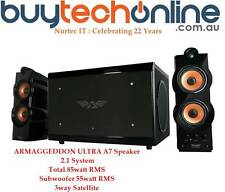 ARMAGGEDDON ULTRA A7 Speaker 2.1 System Total 85W RMS Subwoofer 55W RMS