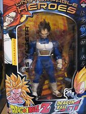 "2004 LIMITED EDITION UNSTOPPABLE HEROES DRAGON BALL Z 9"" ss VEGETA ACTION FIGURE"