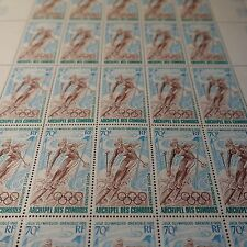 COLONIE COMORE PA N°22 FEUILLE DE 25 SHEET NEUF ** LUXE MNH COTE 188€