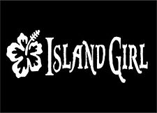 Island Girl Decal flower laptop mirror wall art car window sticker graphic