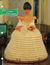 17th CENTURY BALL GOWN DRESS CROCHET PATTERN ONLY ANNIE'S FASHION DOLL CLUB