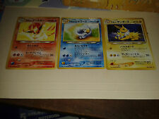 Pokemon 3 x NEO 4 Destiny Japanese Light Flareon Jolteon Vaporeon Card Lot