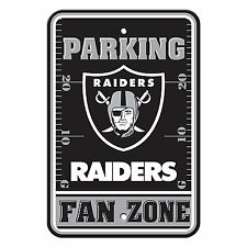 "New NFL Oakland Raiders Fan Zone Parking Sign 12"" x 18"" Made in USA"