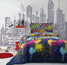 Graffiti by Jelly Bean Kids - Single Quilt Cover Set - a Splash of Colours