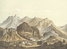 ANCIENT CITY OF Lacedaemon SPARTA 300 SPARTANS ~ Old 1882 Art Print Engraving