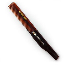 1541 London Folding Pocket Hair and Beard Comb with Clip - BC6