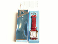BEAUTIFUL AVON RED WIDE LEATHER STRAP QUARTZ WATCH LADIES WOMEN'S DRESS