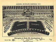 Berlin NW. Wintergarten Dorotheenstraße Historische Innenansicht 1915