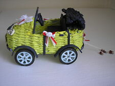 Wedding car. New Unique Wedding Gift. Hand made from paper wicker.
